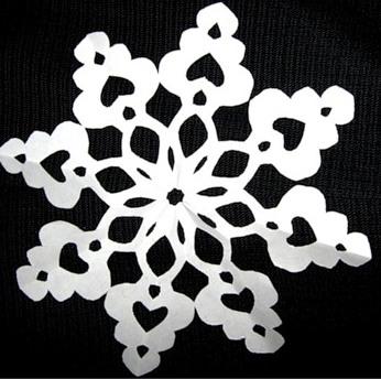 Как сложить бумагу для новогодней снежинки - Поделки к праздникам