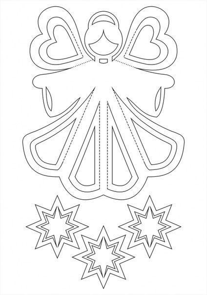 Ангел шаблон для вырезания