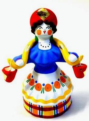 дымковская игрушка барыня