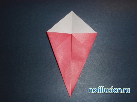 складывания гнома оригами