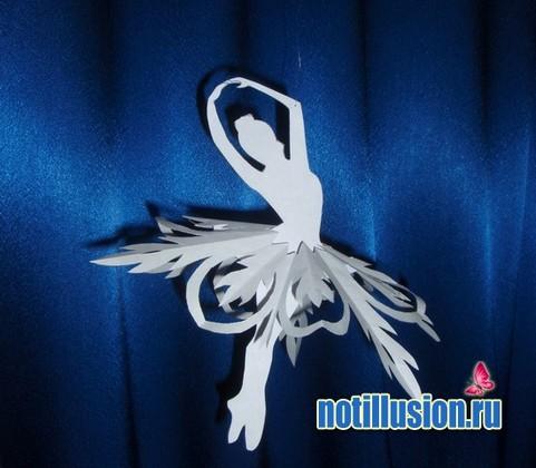 готовая модель балерины снежинки