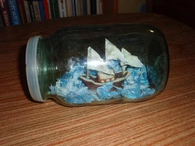 Корабль в бутылке для детей