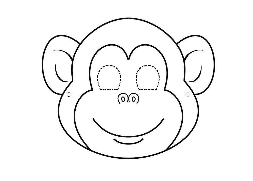 Маска гориллы своими руками