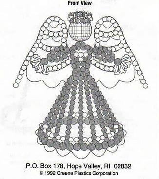 Объемный ангел схема