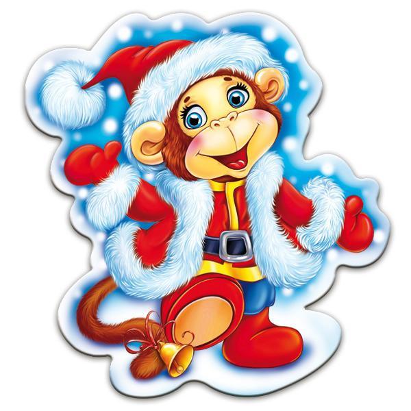 Новый год с обезьяной картинки