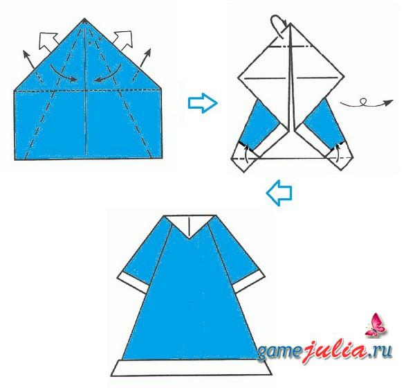 Как сделать оригами из бумаги на новый год схемы