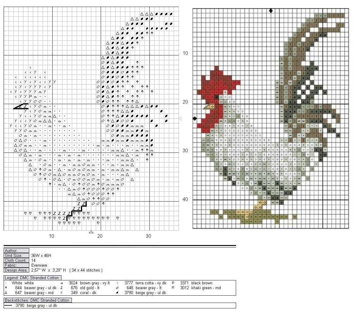 Схема для вышивания петух фото 610