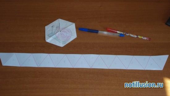 Как сделать флексагон из бумаги