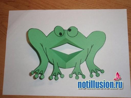Поздравления, лягушка открытка своими руками
