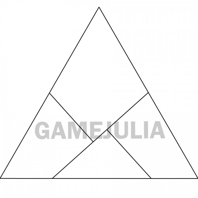 Головоломка треугольник из бумаги