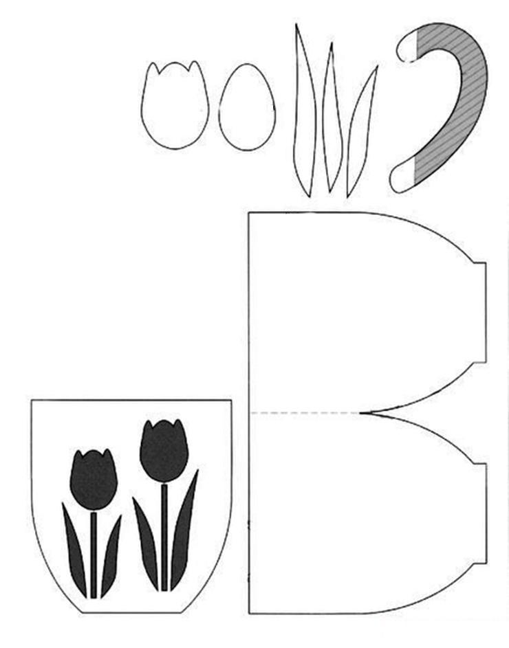 Открытка чашка с цветами шаблоны