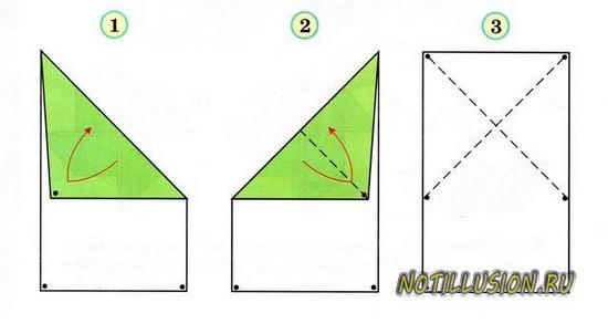 оригами лягушка схема