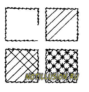 схема вышивки накладная сетка