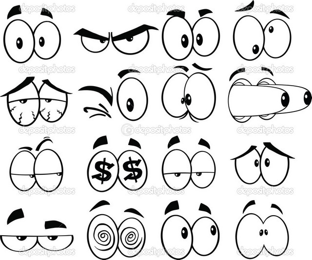 шаблоны для рисования прикольных глаз