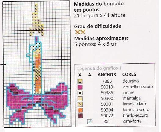 Бантик схема для вышивки