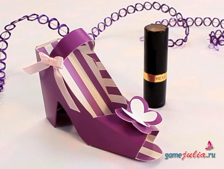 Коробка для подарка туфелька