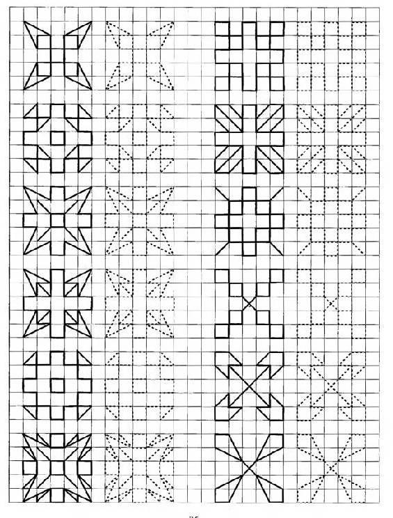Схемы узоров карандашом
