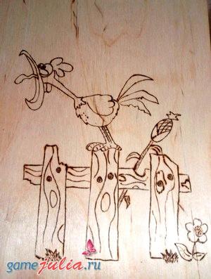 vizhiganie-petuh Выжигание по дереву для детей. Рисунки и макеты для выжигания детям