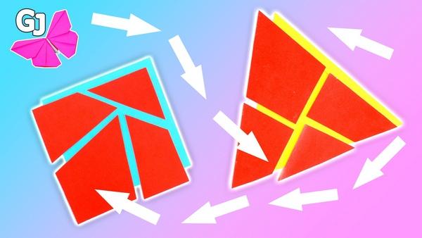 Головоломка из бумаги Треугольник