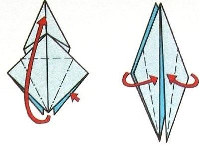 Оригами журавлик