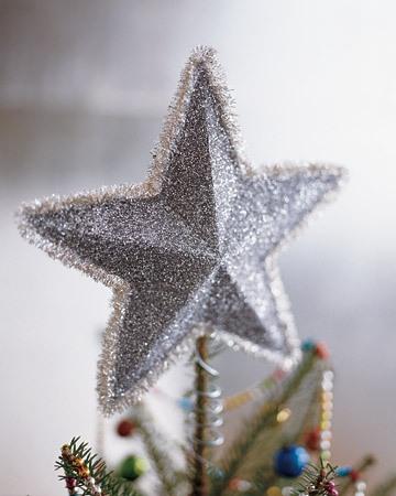 Звезда из бумаги на елку